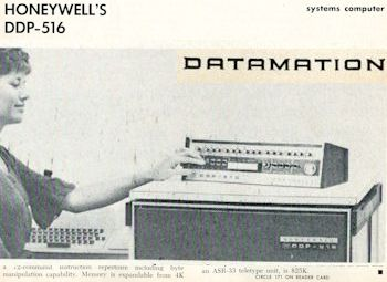 Datamation November 1966 Honeywell's DDP-516