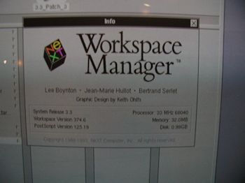 Next Workspace 3.3 splash screen