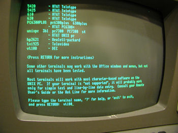 Zenith Z-19 as external terminal to AT&T 7300 UNIX PC