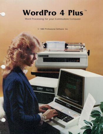 Commodore 8032 PET WordPro 4 Plus Software