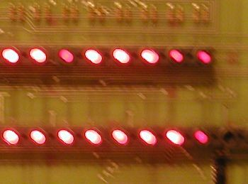 Digital PDP-11/40 industrial/11 LED replacement lights installed