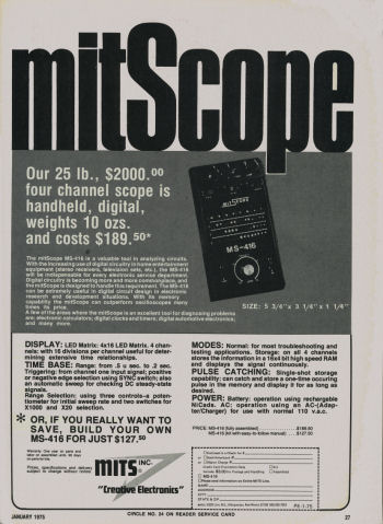 Ad for MITS mitSCOPE Model Milliscope 416