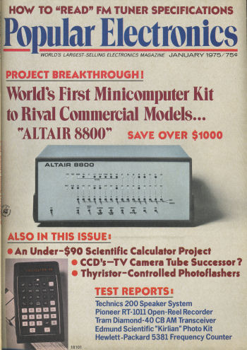 Popular Electronics January 1975 Cover