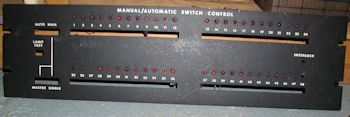 Unidentified Manual/Automatic Switch Control panel.