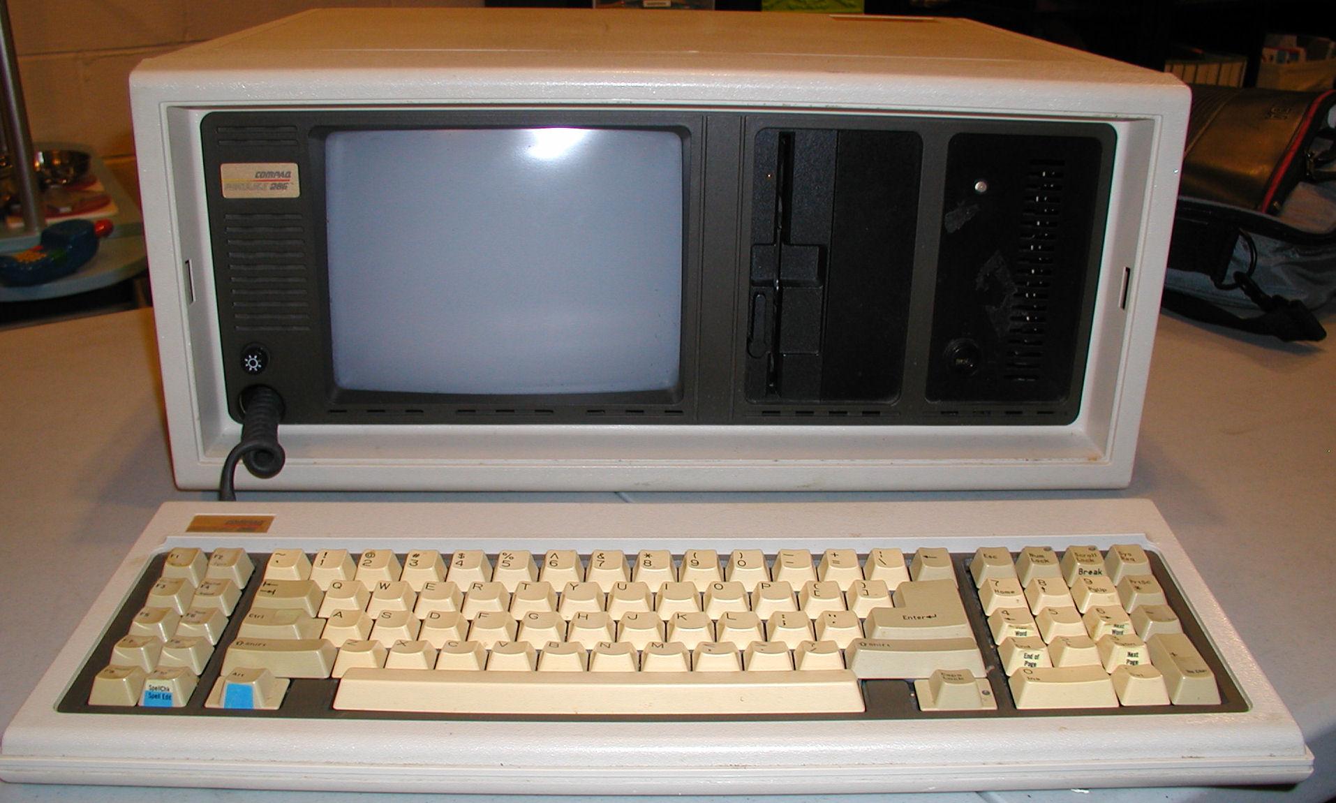 Vintage Computer Photos subject: compaq portable 286