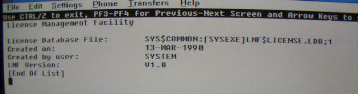 Vintage Computer Photos subject: digital OpenVMS