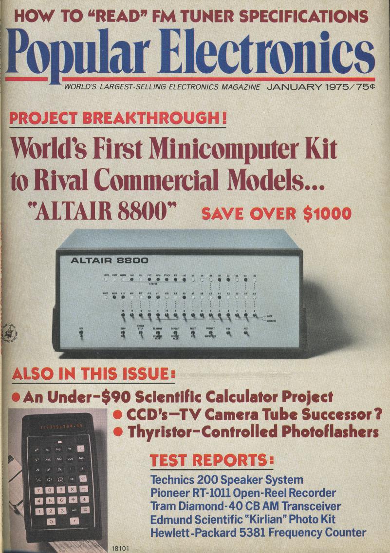 VintageComputer net - Popular Electronics January 1975 and February