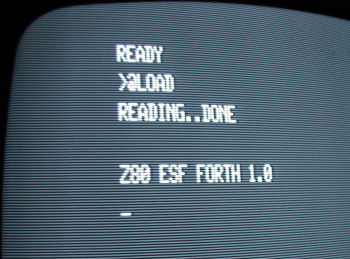 Forth running on a TRS 80 Model 1